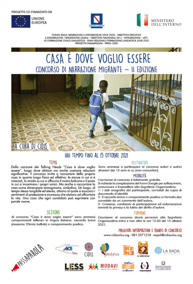 """""""Casa è dove voglio essere"""": concorso di narrazione migrante"""