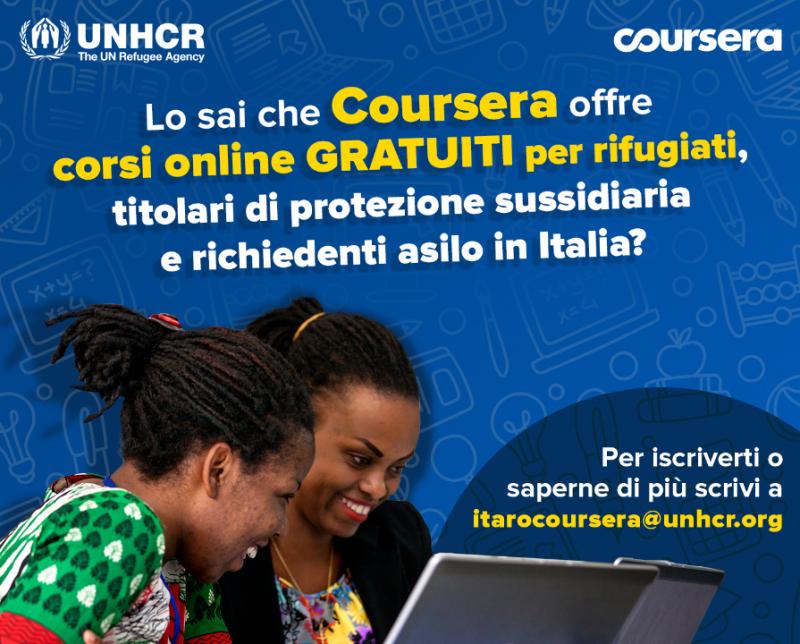 Coursera For Refugees: formazioni gratuite online per i rifugiati in Italia
