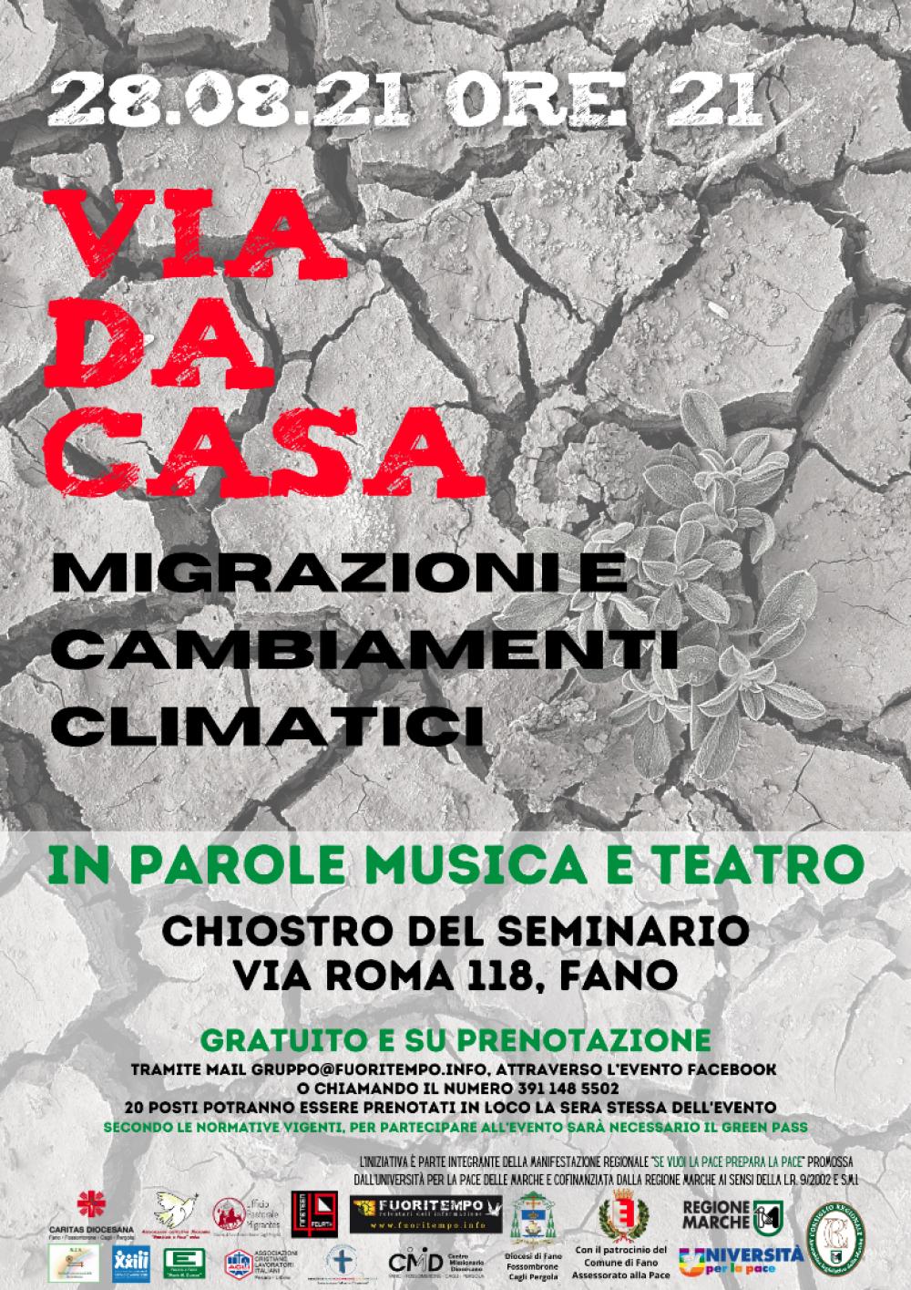 Via da casa: migrazioni e cambiamenti climatici